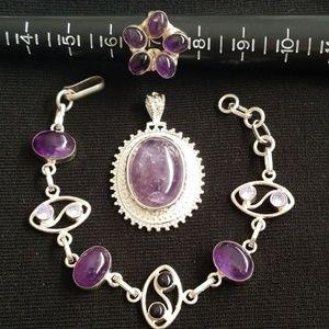 Classy Pendant, Bracelet and Ring